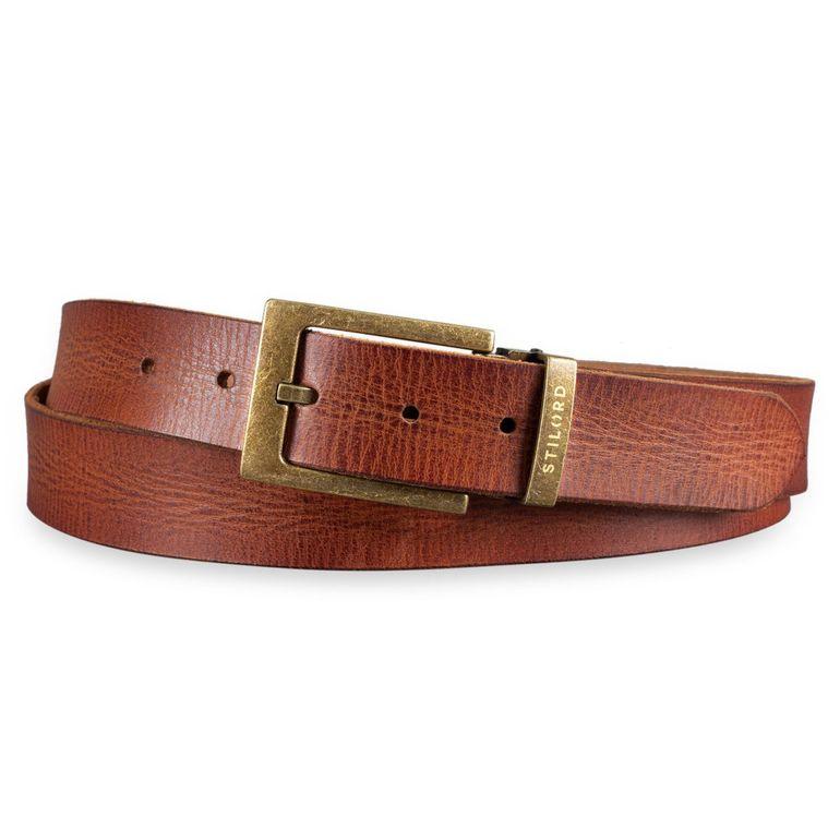 [Bulto] Cinturón de piel marrón