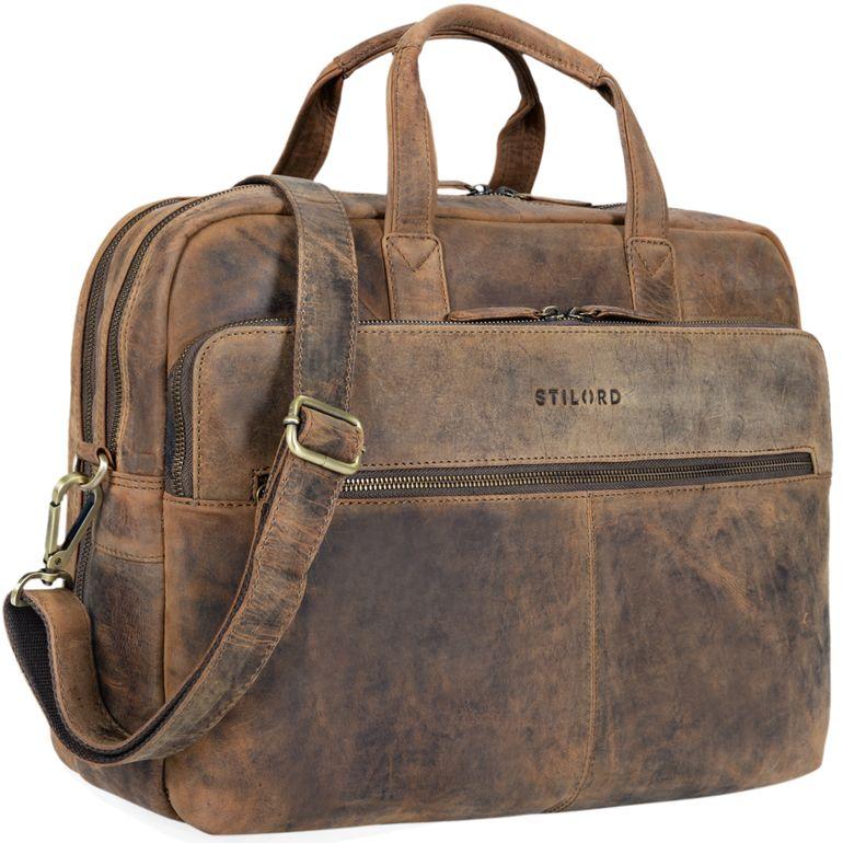 """""""William"""" Bolso de negocios o maletín de piel"""